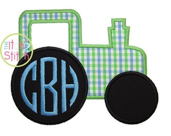 Tractor Applique Design For Machine Embroidery ,  INSTANT DOWNLOAD now available