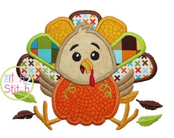 "Turkey Pumpkin Applique, Shown with our ""Beneath Your Beautiful"" Font NOT Included, Sizes 4x4, 5x7, & 6x10 INSTANT DOWNLOAD available"