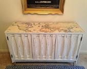 SOLD Vintage White Dresser Buffet Entertainment Center Sideboard