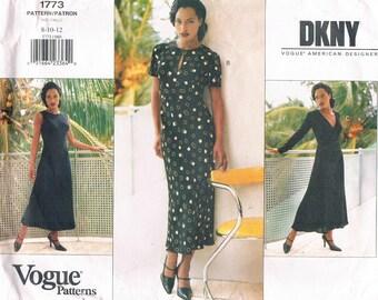 Vintage 1996 Vogue DKNY Multi - Size 8, 10, 12- Misses' Dress  No. 1773