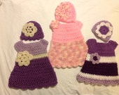 Doll dress and hat sets