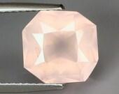 ROSE QUARTZ  (30980) 9.5mm Octagon  Pink Rose Quartz -  Faceted