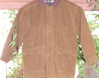 Vintage 90's 1990's Fall Winter Boys Corduroy Jacket Size Small 5\6 By The Children's Place
