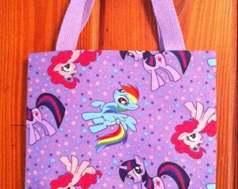 My little pony inspired coloring crayon bag