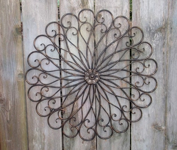 Oversized Round Wall Decor : Large wall wrought iron decor round by