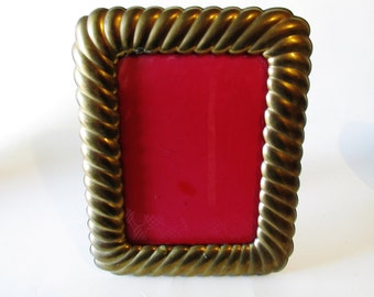 Vintage Brass Picture Frame, Hollywood Regency,