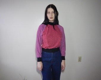 Vtg 70s terry cloth pullover size s