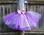 """The Spring Fling!  Multi purple and texture tutu 9"""" length 2-5 year olds"""