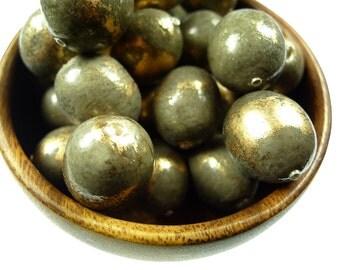 Rare, oval paper mache beads 10pcs