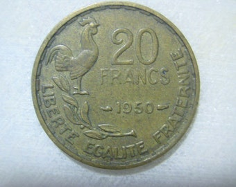 1950 France - French Coin, 20 Francs - G. GUIRAUD