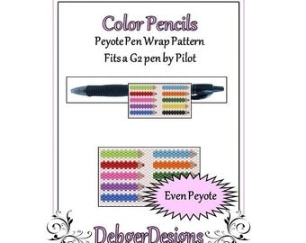 Bead Pattern Peyote(Pen Wrap/Cover)-Color Pencils