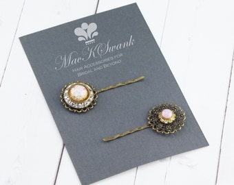 Vintage Rhinestone Bobby Pin Set - Bridal Bobby Pins - Wedding Hair Pins - Crystal Hair Pin - Gift for Her - Unique Gift - Gift Under 20