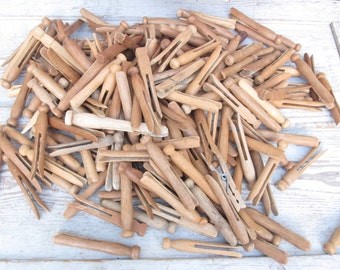 Old Wooden Clothespin Bundle