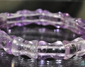 "Reserved For Marie---Listed @ 12% Off Sale Was 16.99---14Pcs 10x13mm 7.5"" Brazilian Purple AMETHYST Bone-Shaped Stretch Bracelet - B0648"