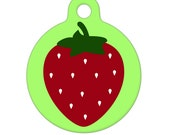 Pet ID Tag - Strawberry Pet Tag, Dog Tag, Cat Tag