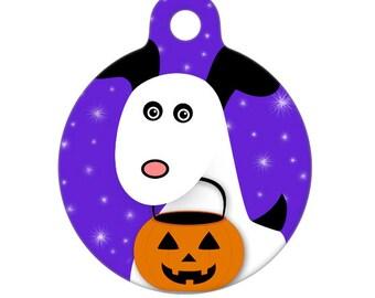 Pet ID Tag - Happy Halloween Puppy Dog Pet Tag, Dog Tag, Luggage Tag, Child ID Tag