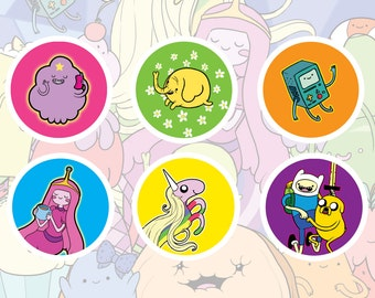 Adventure Time Pinback Button Set of 6