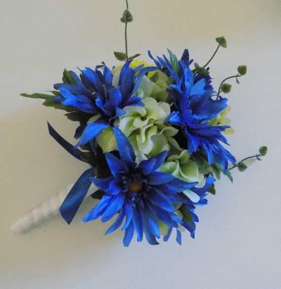 Cobalt Blue Wedding Bouquet 65