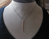SALE Gold Bar Necklace Minimalist Pendant Black Gold Pendant Black Chain Gift Layering Necklace Minimalist Necklace 14K Yellow Gold Bar Pend