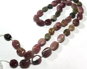 Tourmaline Beads Multicolor Oval 7mm x 5mm x 3mm