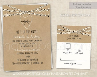 view reception only invites by notedoccasions on etsy, Wedding invitations