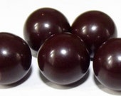 Vintage Buttons Brown Bakelite Ball Shape
