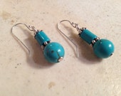 Turquoise Earrings - Turquoise Jewelry - Gemstone Jewelry - Stering Silver Jewellery - Fashion - Trendy