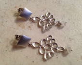 Moonstone Earrings - Rainbow Moonstone Jewelry  - Silver Jewellery - Natural Gemstone - Fashion - Luxe