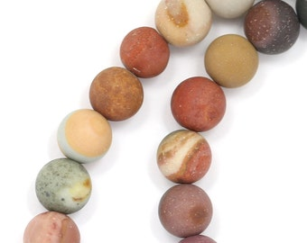 Owyhee Jasper Beads - Matte Finish - 6mm Round - Limited Quantity