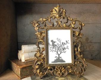 Brass Frame Brass Picture Frame Vintage   etsystudiocom