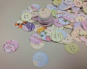 Button Confetti from Winnie the Pooh Book Over 300 Punches - Rippy Bits by TangoBrat Ready to Ship