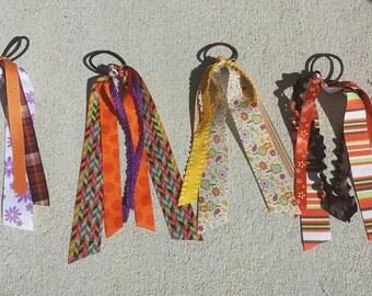 Festive fall streamer ribbons