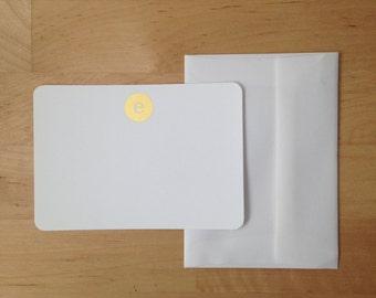 FOIL Monogram Flat Note Cards