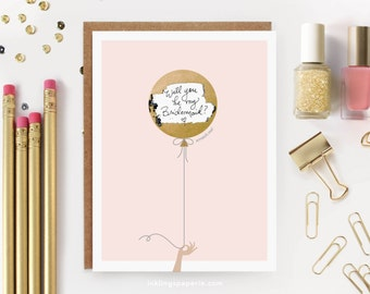 """6 Scratch-off """"Be My Bridesmaid"""" Cards // Ask Bridesmaids, Maid of Honor Card, Will You Be My Bridesmaid Proposal, Bridesmaid Box // Pink"""