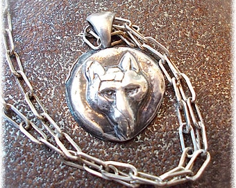 Wax Seal Jewelry, WOLF Necklace, Antique Wax Seal Talisman - DONATION to LUPUS Foundation,  Symbolic Jewellery Your Daily Jewels,