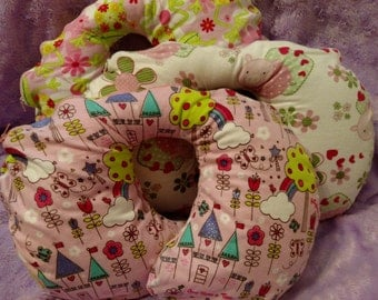 Travel Pillow - Car Seat Neck Support - Small/Toddler Limited Quantity Slip Cover Girl Prints