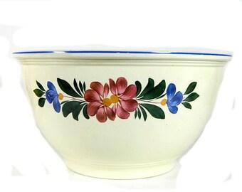 Large Vintage Homer Laughlin Kitchen Kraft Mixing Bowl Floral