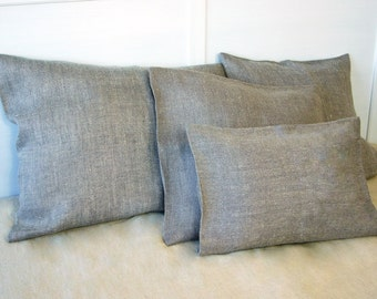 Decorative linen pillow -Lavender Dreams- throw pillow,cushion cover, couch cushion, linen home decor, Eco-friendly natural linen,