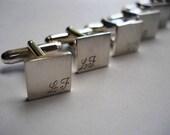 Cufflinks groomsmen gift groom gift cuff linksbest man gift wedding cuff link set engraved cufflinks initial cufflinks wedding