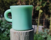 Fire King Jadeite C handled Coffee Cup