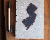 New Jersey Stitched Journal - Handmade Paper