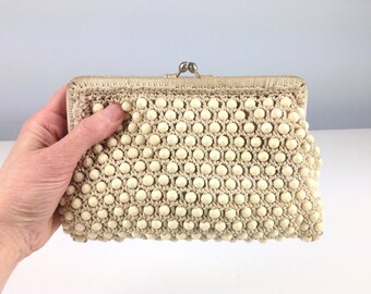 Made in Italy for Saks Fifth Avenue Vintage Beaded Clutch Purse