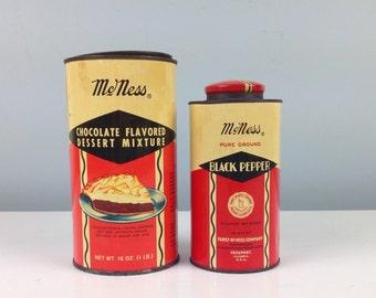 Antique McNess Kitchen Decor, Antique Cans, Black Pepper, Chocolate, Farmhouse Kitchen Decor, Antique Kitchen, Vintage Advertising, Ad