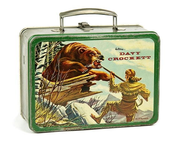 1955 Davy Crockett Lunch Box By Holtemp Metal Lunchbox