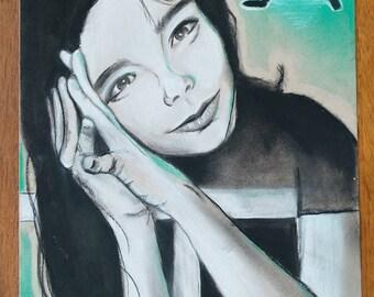 "9"" x 12"" Bjork Portrait"