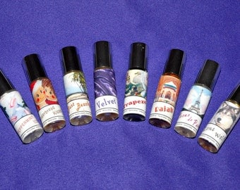 Essential Oil Full Size Roll On Perfume - Paris Trapeze Rajah Lone Wolf Peppermint & More