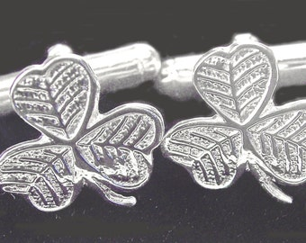 "Silver Irish ""Shamrock"" Cufflinks"