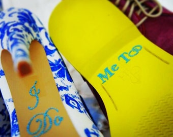 I Do Shoe Sticker Set for the Bride & Groom