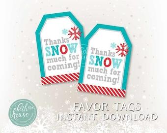 Winter Favor Tags by Beth Kruse Custom Creations