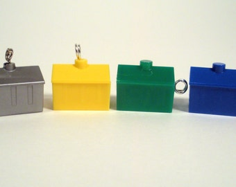 Upcycled Monopoly Game Hotel Piece Pendant Necklace/Keychain/Phone Charm